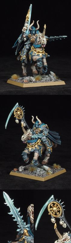 Warriors of Chaos Sorcerer Lord of Tzeentch on Daemonic Mount.