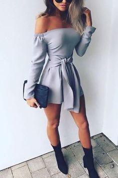 28ed54b24e2 Strapless Bandage Long Sleeves Short Jumpsuit