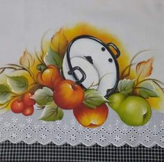 Fruit Painting, Fabric Painting, Painting & Drawing, Colored Pencil Artwork, Stencil Patterns, Fruit Art, Paint Designs, Beautiful Paintings, Painting Inspiration