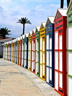 Beach Huts at Platja de St. Pol - SAgaró ~ Costa Brava, Spain