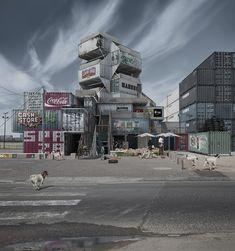 Architecture urbaine imaginaire de Justin Plunkett