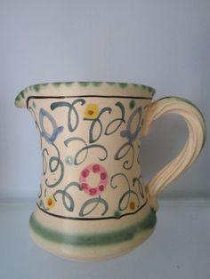 Honiton Pottery jug in rare sweet pea pattern