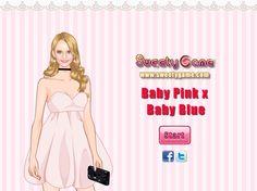 Przygotuj stylizację dla dziewczyny, która nie potrafi zadecydować jaki kolor będzie przewodnim z dzisiejszej stylizacji.  http://www.ubieranki.eu/ubieranki/10318/baby-pink-_-baby-blue.html