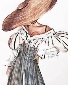 rovence🌿 jacquemus ms_art marinasidneva_art marinasidneva art # - - in 2020 Illustration Inspiration, Illustration Mode, Fashion Illustration Sketches, Art Illustrations, Fashion Design Illustrations, Vintage Fashion Sketches, Illustration Artists, Portfolio Mode, Fashion Portfolio