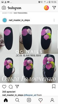 Elegant and Cute Acrylic Nail Designs, unique ideas for you to try in special day or event. 3d Acrylic Nails, Cute Acrylic Nail Designs, 3d Nail Designs, Acryl Nails, Purple Nail Designs, 3d Nails, Gel Nail Art, 3d Flower Nails, Nail Techniques