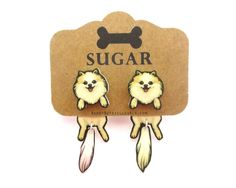 Sugar (Pomeranian) Cling Earring
