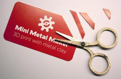 Man 3D Prints Highly Functional Metal Scissors on a $1,500 3D Printer http://3dprint.com/53641/3d-printed-metal-scissors/…