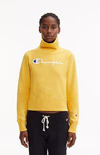 High Neck Cropped Reverse Weave Sweatshirt Champion Store, Men And Women, Weave, Sportswear, Sweatshirts, T Shirt, Clothes, Shopping, Ideas