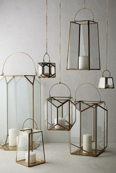 Brass lanterns, Anthropologie