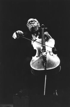 """I interviewed the great cellist Mistislav Rostropovich at the Royal Festival Hall in London for L'Unità just minutes after his 75th Bithday Gala Concert. I remember I still had goose skin. Considered that he was exhausted by the concert he was very kind to me and could actually speak in Italian. He was the greatest cellist on hearth. I was so proud when my full page review and interview was published on the cultural section of """"L'Unità""""."""