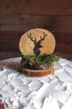 Your place to buy and sell all things handmade Hunting Birthday Cakes, Deer Cakes, Rustic Cake Toppers, Birthday Cake Toppers, Party Themes, Birthdays, Table Decorations, Sweet, Handmade