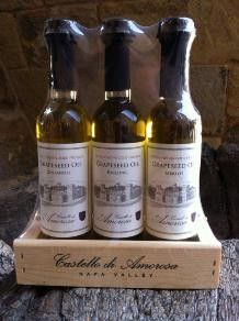 We make our own grapeseed oils for sale in our Fattoria at the Castello or on our website!