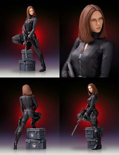 Captain America: The Winter Soldier: Black Widow 9-Inch Statue (Scarlett Johansson)