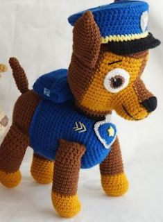 Tienda Virtual Olyto Crochet: Amigurumi Patrulla Canina Shase ( paso a paso Minion Crochet Patterns, Crochet Giraffe Pattern, Crochet Penguin, Crochet Animals, Crochet Toys, Patron Crochet, Sewing Projects For Beginners, Stuffed Animal Patterns, Paw Patrol