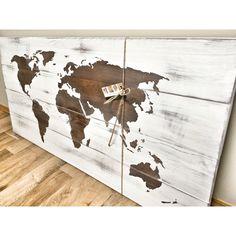 Rustic Wood World Map, Rustic Decor, Farmhouse Decor, Rustic Nursery Decor, Wall Decor, Wooden White World Map - 46 x 22 https://www.etsy.com/ca/listing/463775525/rustic-wood-world-map-rustic-decor