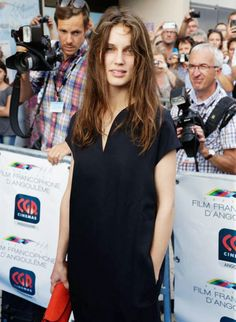 Marine Vacth poses during the 'Belles Familles' premiere as part of the 8th Angouleme French-Speaking Film Festival on August 25, 2015 in Angouleme, France.