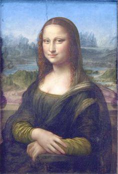 Mona Lisa digitally restored in its original colors.