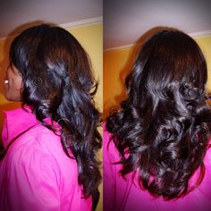 #ONYCHair Gorgeous Wavy 2B-2C #hair can easily be transformed from its natural deep wave pattern, to sleek straight or curls like this #ONYCBeauty.    Shop US Now >>> ONYCHair.com Shop UK Now >>> ONYCHair.uk Shop NG Now>>> ONYCHair.ng