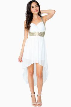 Agaci black high low dress