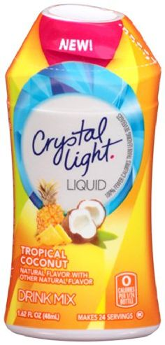 Crystal Light Tropical Coconut Liquid Water Enhancer Fluid Ounces Pack): One case of 12 units of Crystal Light liquid drink mix tropical coconut. Gourmet Recipes, Snack Recipes, Snacks, Coconut Cream, Coconut Milk, Coconut Drinks, Natural Flavors, Mixed Drinks, Drinking Tea