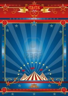 a circus blue poster for your advertising
