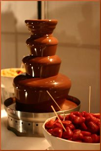 Don't forget the Chocolate Fountain. Yuuum!