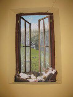 Cat Love, Windows, Illustrations, Illustration, Ramen, Illustrators, Window
