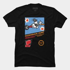 #Nintendo: Duck Hunt / #Disney: #DuckTales' #Gizmoduck mashup t-shirt.