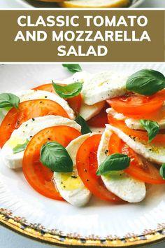 Caprese Salad | tomatoe salad recipes, mozzarella recipe healthy, mozzarella recipes, tomatoes salad, recipes with mozzarella, recipes with mozzarella cheese, mozzarella recipe ideas, mozzarella cheese recipe, capree salad, mozzarella and tomato, mozzarella tomato, recipes with fresh mozzarella, tomato and mozzarella salad, tomatoes and mozzarella appetizer, mozzarella capreses, mozzarella appetizers #apetizerrecipe #salad #easyrecipe #singleserving #recipeforone #foodrecipes #onedishkitchen