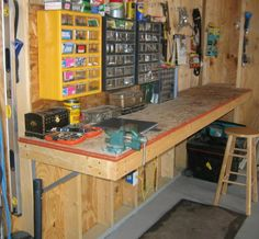 Workbench Idea Looks like all good workbenches need a vice on the end.