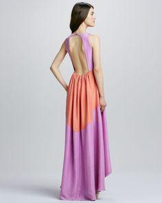 Tibi Two-Tone Maxi Dress