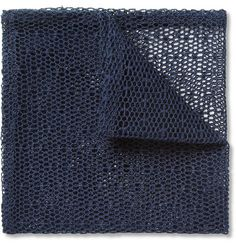 Marwood - cotton mesh lace pocket square, very nice. Made in England. £60