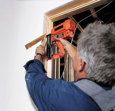 Tom Silva does a plumb job putting up a prehung door Prehung Interior Doors, Prehung Doors, Door Jamb, Carpentry Skills, Phillips Screwdriver, Glass Repair, Sliding Patio Doors, Drill Driver, Home Repair