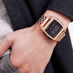 Professional Sale Skmei 1373 Led Digital Watch Men Waterproof Calorie Pedometer Compass Multifunction Fashion Outdoor Sport Clock Mens Wristwatch Watches Men's Watches