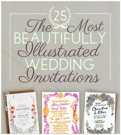 25 Illustrated Wedding Invites - Wedding Ideas By You