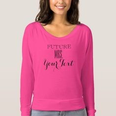 BLACK & PINK FUTURE MRS. LONG SLEEVE WOMENS TOP