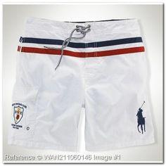 Ralph Lauren Hombre, Cheap Ralph Lauren Polo, Polo Ralph Lauren Shorts, Custom Polo Shirts, Mens White Shorts, Streetwear Shorts, Surf Shorts, Men's Shorts, Swimwear Brands