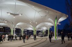 Munich Bus and Tram Station by PRPM Architects