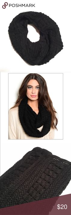 Solid Black Knit Infinity Scarf Infinity Scarf Boutique item Solid black Knit style Very soft and comfy Brand new with tag One Size Made in China Accessories Scarves & Wraps