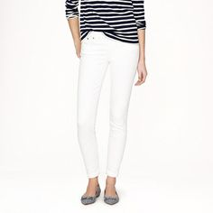 Tall stretch toothpick jean in white