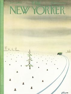 Charles Addams : Cover art for The New Yorker 1973 - 8 December 1962 The New Yorker, New Yorker Covers, Christmas Cover, Christmas Art, Vintage Christmas, Charles Addams, Weather Art, Magazine Art, Magazine Covers