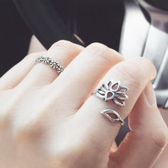Lotus sterling silver ring – Imsmistyle.