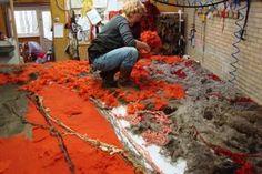 Claudy Jongstra feltmaking process
