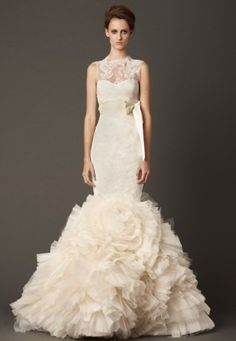 Vera Wang 2013 Bridal Collection Vera Wang 2013 Collection - Organza Rosette Mermaid Gown – The Knot