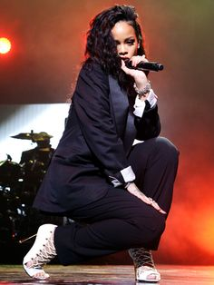 Rihanna performs onstage during DirecTV Super Saturday Night