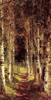 Vasily Polenov (1844-1927), the Great Russian Artist, Birch Alley, 1880