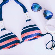 Nautical Bikinis! #LadyLux #NauticalLux #LuxLife #Beachwear  #LuxurySwimwear #bikinis