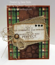 Strength and Power (Masculine Card) by luv2stamp50 - Cards and Paper Crafts at Splitcoaststampers