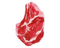 Watercolour steak - Lewis Wade Stringer