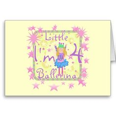 Ballerina Birthday Tshirts and Gifts Greeting Cards Ballerina Birthday, Little Ballerina, 4th Birthday, Birthday Cards, Twinkle Twinkle Little Star, Special Day, Birthdays, Greeting Cards, Pink